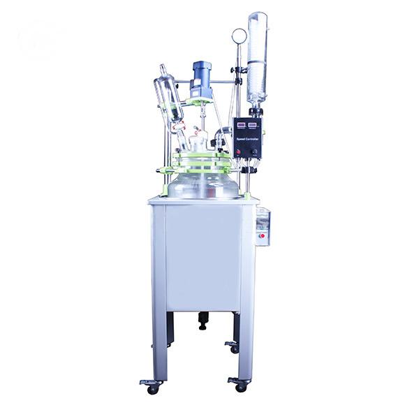 河南益源仪器单层玻璃反应釜的型