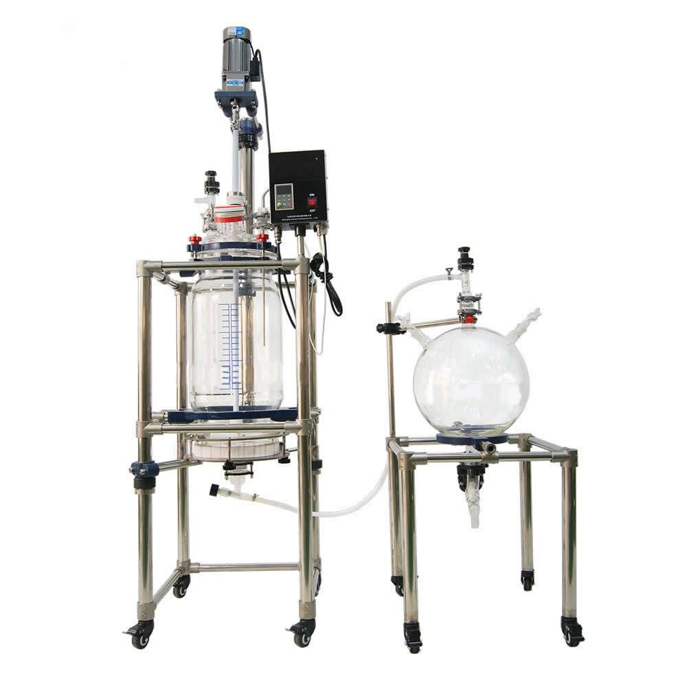 河南益源仪器双层过滤玻璃反应釜